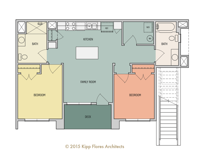 Birch Floor Plan - 1B